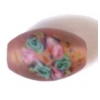 Glass Lamp Bead 15x10mm Oval Rosaline Matt